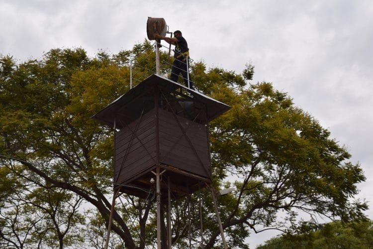 Renovating tower