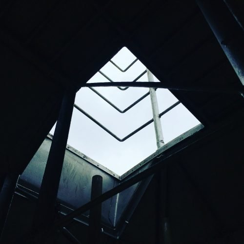 Tower roof exit