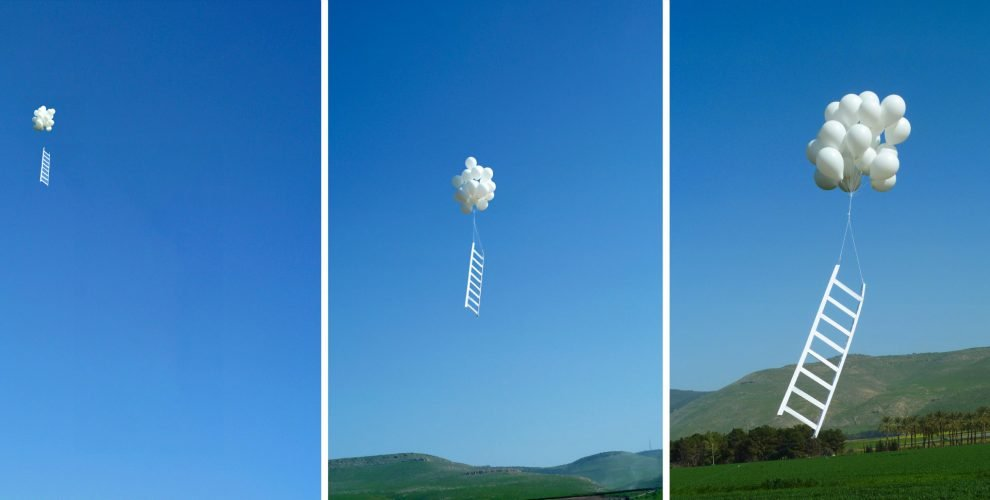 Jacobs ladder triptych 2012 - Chromaluxe print 1meterx85cm