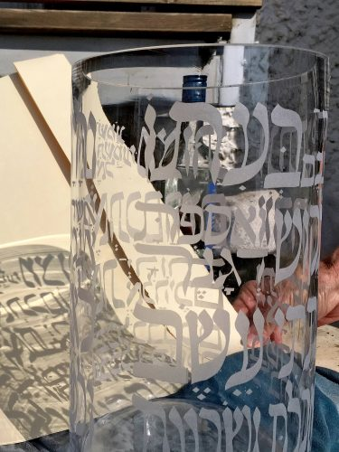 Rain gauge-30cmHGTx15cmDIAM-silver -glass-2018-sand blast