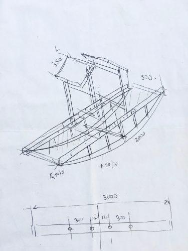Chevrutah -2013-preliminary sketch-3mLx1.40HGTx50cmW