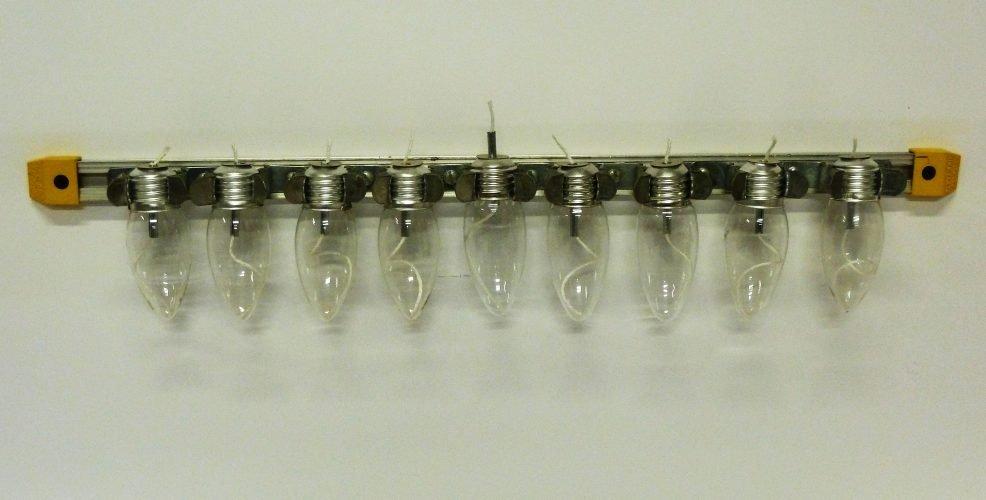 Mini lightbulb Chanukiah 2012