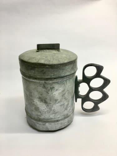 Tzedaka Box-2019-Tin-15cm HGTx35cm circ