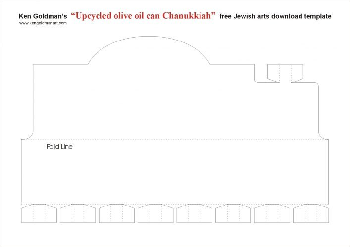 Chanukah Tin DIY Menorah Template Download