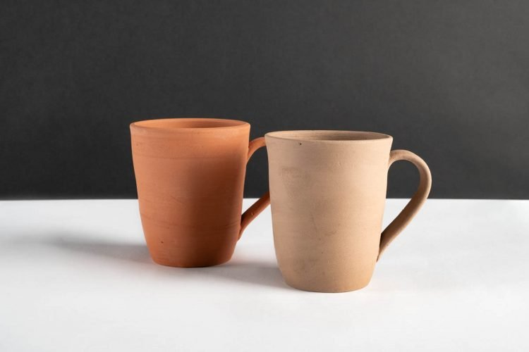 Ceramic Cups Incorporating Ground Shards